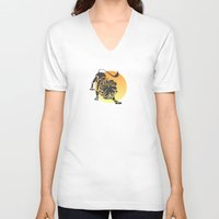 leo V-neck T-shirts featuring Leo by Geni