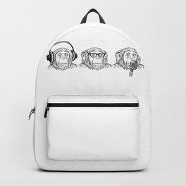 Hear Evil, See Evil, Speak Evil Backpack