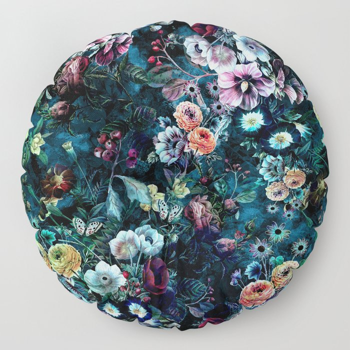 Night Garden Floor Pillow