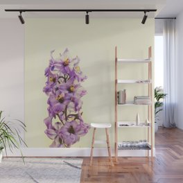 Purple Larkspur Delphinium Flowers Wall Mural