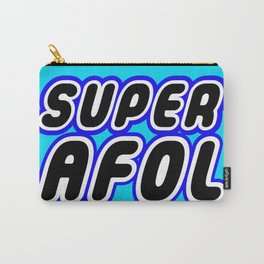 SUPER AFOL in Brick Font Logo Design [Alternate Colors] by Chillee Wilson Carry-All Pouch