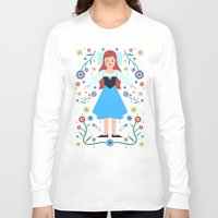 ariel Long Sleeve T-shirts featuring Ariel by Carly Watts