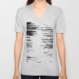 Splash Black and White Unisex V-Neck