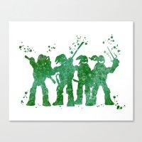 teenage mutant ninja turtles Canvas Prints featuring Teenage Mutant Ninja Turtles by Carma Zoe