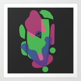 S H A P E S // onB L A C K Art Print