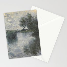 Claude Monet - The Seine at Vétheuil.jpg Stationery Cards