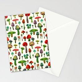 littel mushrooms Stationery Cards