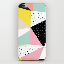 80s Retro Geometric Pattern iPhone Skin