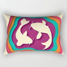 Koi fish paper cut out 015 Rectangular Pillow