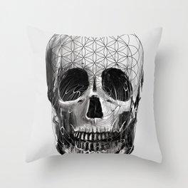 Sacred Skull Throw Pillow