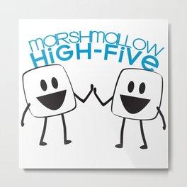 Marshmallow High Five Metal Print