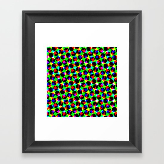COLORFUL DOT Framed Art Print