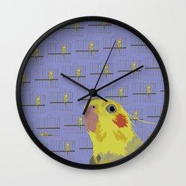 The Cocatiel Gallery Giftshop Wall Clock