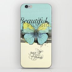 Beautiful Papillon ( butterfly ) iPhone & iPod Skin