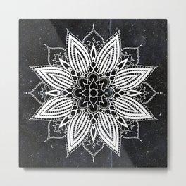 Flower Mandala in the Stars Metal Print