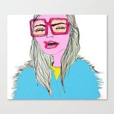 Happy, Vogue Model Canvas Print