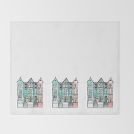 DC Row House No. 2 II U Street Throw Blanket