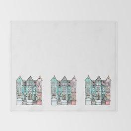 DC Row House No. 2 II U Street Throw Blanket