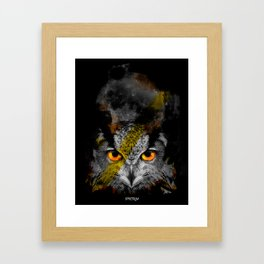OWL NIGHT Framed Art Print