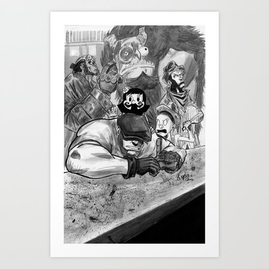 The Goon and Friends Art Print