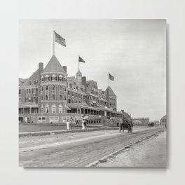 1910 Hotel Mathewson & Coastguard House at Narragansett Pier, Narragansett, Rhode Island Metal Print