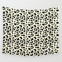 leopard Wall Tapestries featuring Leopard by Laura Maria Designs