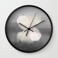 fig Wall Clocks featuring Fig. 3 by Lala Gallardo
