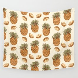 pineapple slices pattern Wall Tapestry