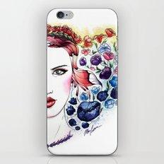 Technicolor Flower Portrait iPhone & iPod Skin