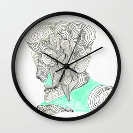 the  lined man Wall Clock