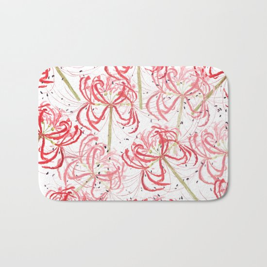 Red spider lily Bath Mat