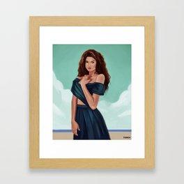 Day on The Beach Framed Art Print