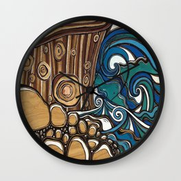 Waters Edge muted Tone Wall Clock