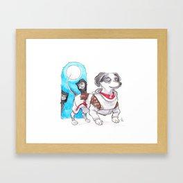 DogDays19 Wylie Framed Art Print
