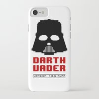 8 bit iPhone & iPod Cases featuring 8-bit Darth Vader by Sylwia Borkowska