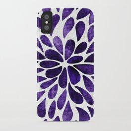 Petal Burst Ultra Violet iPhone Case