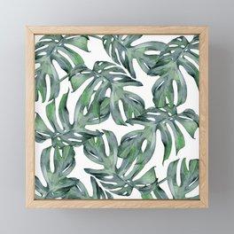 Tropical Palm Leaves Green Framed Mini Art Print