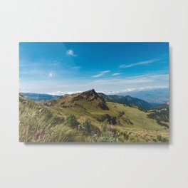 View Hiking up Iztaccihutal Volcano, Mexico City 3 Metal Print