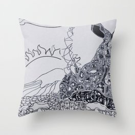 rhino citadel Throw Pillow