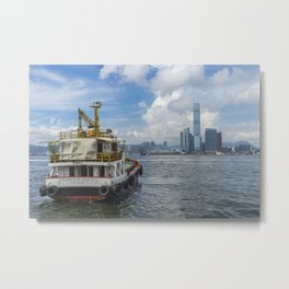 The old and the new in Hong Kong Metal Print