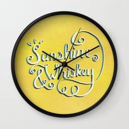 Sunshine & Whiskey Wall Clock