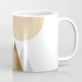 The Gathering, Geometric Landscape Art Coffee Mug