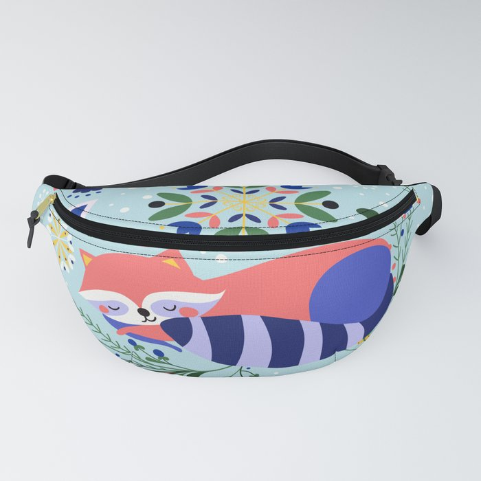 Happy Raccoon Card Fanny Pack