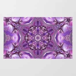 Truth Mandala in Purple, Pink and White Rug