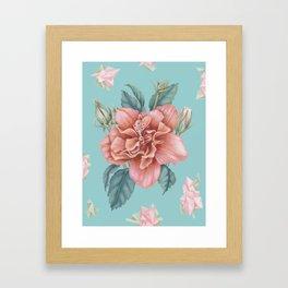 Hibiscus Crystals Framed Art Print