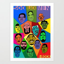 1001 Black Men--#500 Art Print