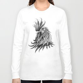 Ornately Decorated Rooster Long Sleeve T-shirt