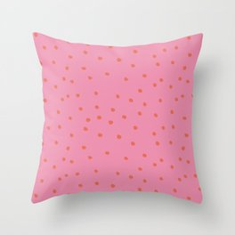 rosarita: polka dot punk Throw Pillow