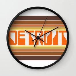 Detroit Travel Poster Wall Clock