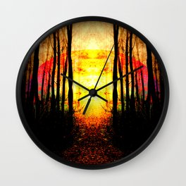 Path To Imagination Golden Wall Clock